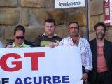 Manifestación de trabajadores de la constructora