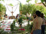 Cruz de Mayo 2008 en Mengíbar. Montando Cruces