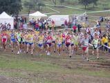 Atletas de Mengíbar  en el circuito provincial de Vilches de Campo  a Través