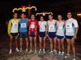 Atletas de Mengíbar en la X San Silvestre de Bailén